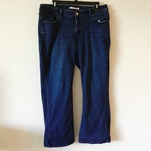 Levi's 529 Curvy Bootcut Dark Wash Jeans 16